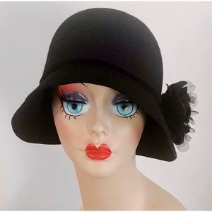 Retro 20's Cloche Wool Hat
